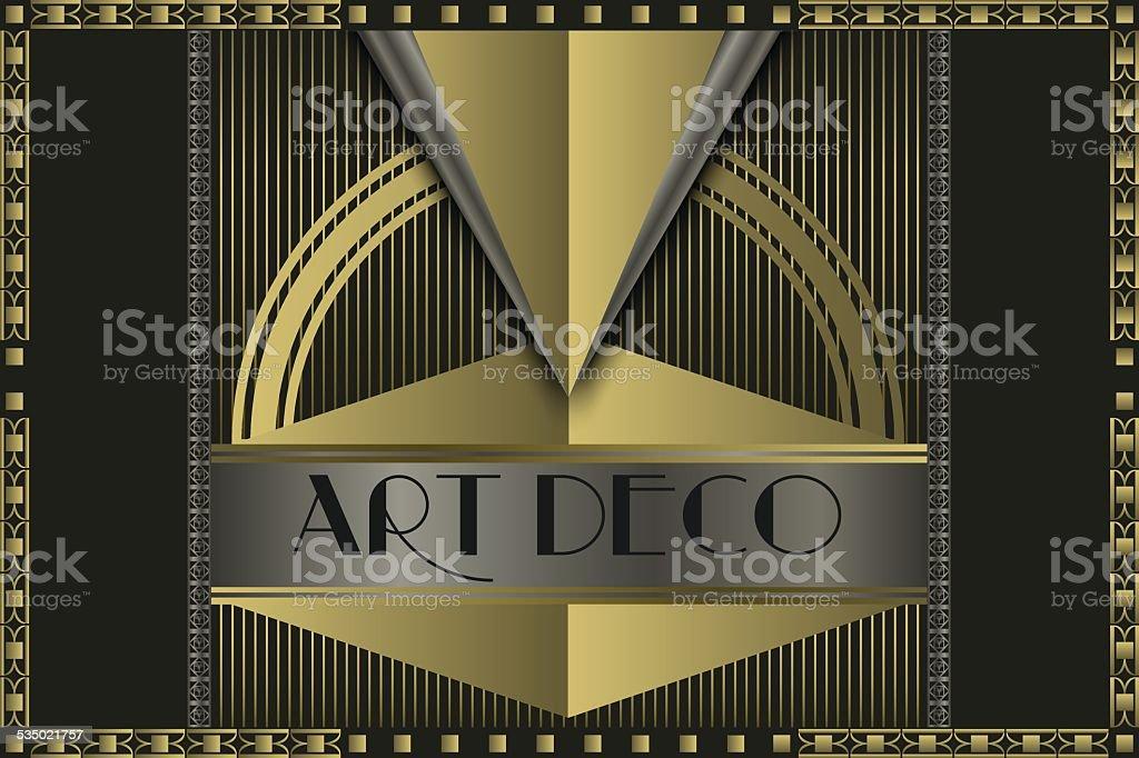 Art deco concept vector art illustration