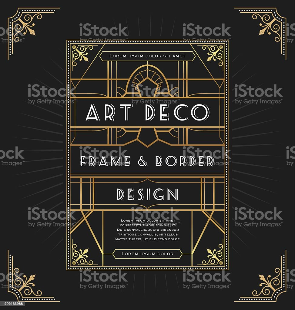 Art deco frame design for your design vector art illustration