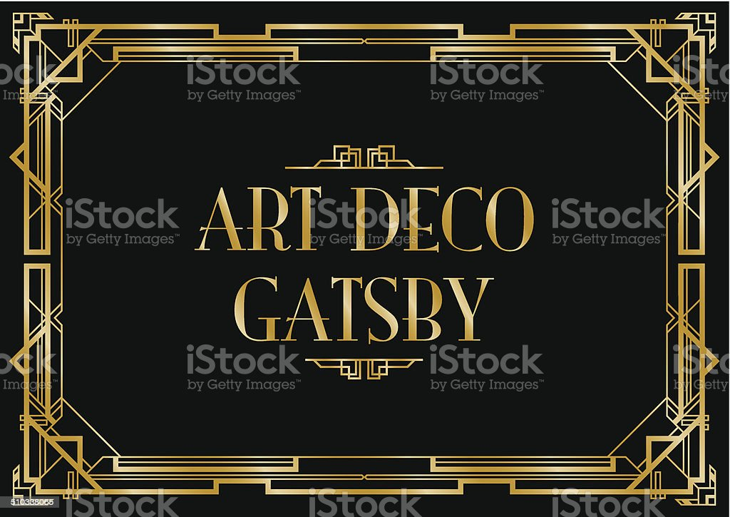 art deco gatsby background vector art illustration