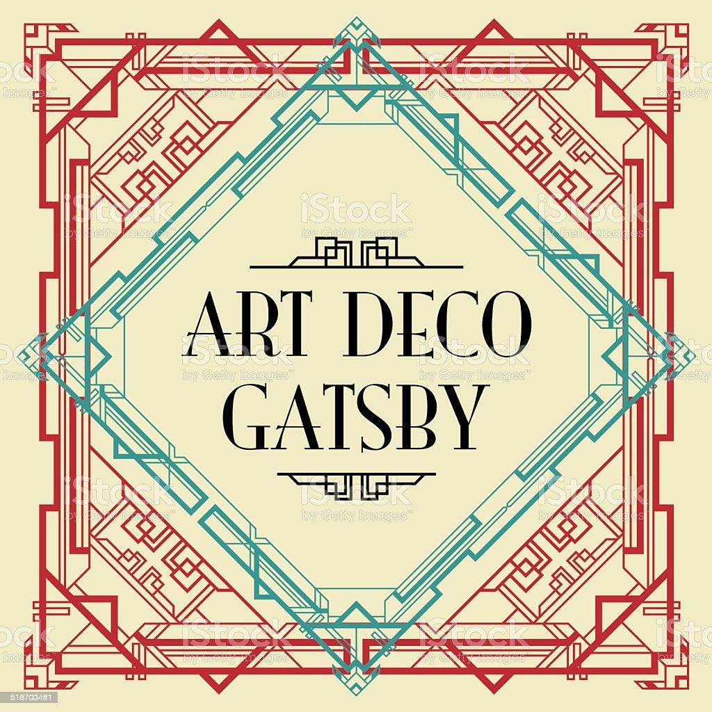 art deco gatsby style background vector art illustration