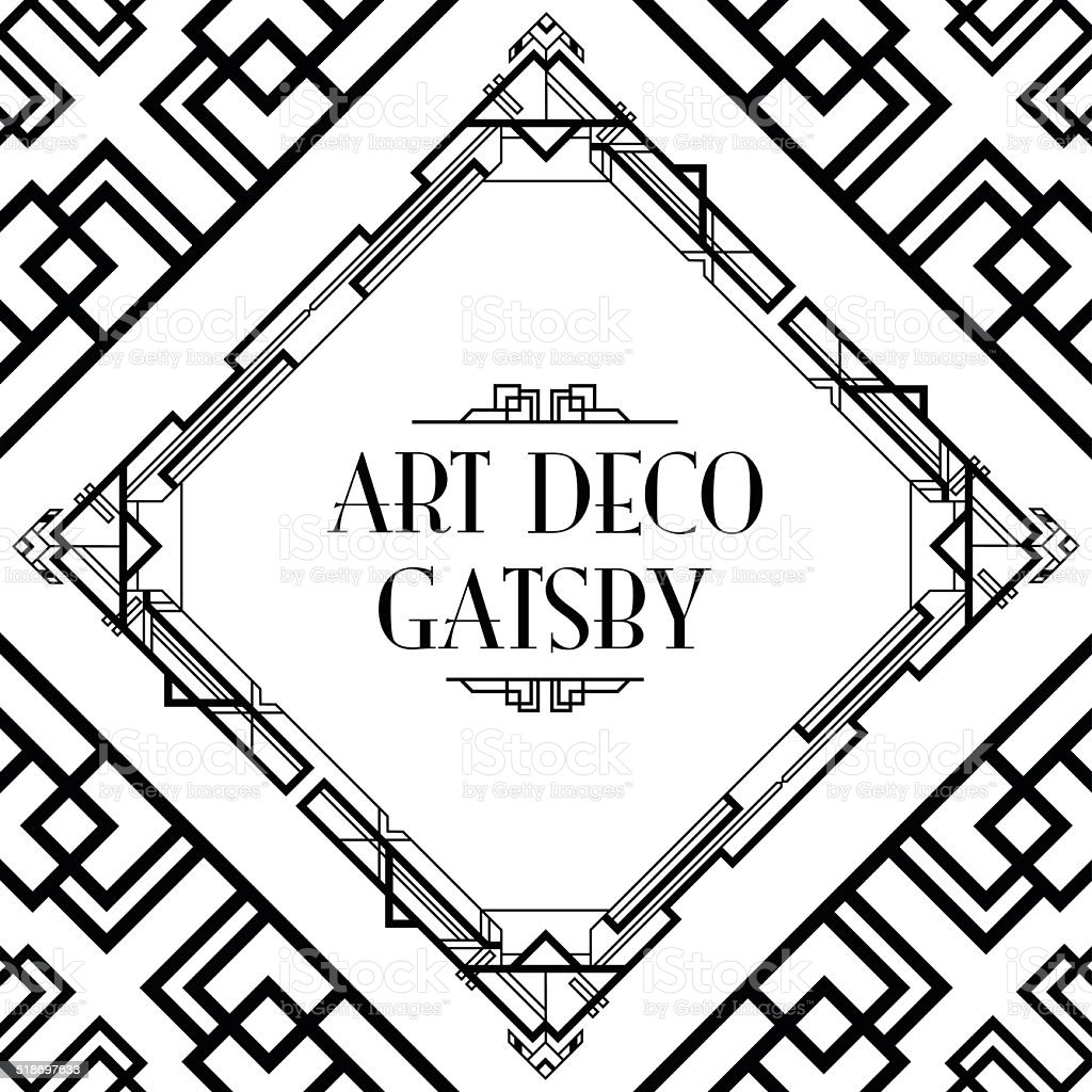 art deco gatsby vector art illustration