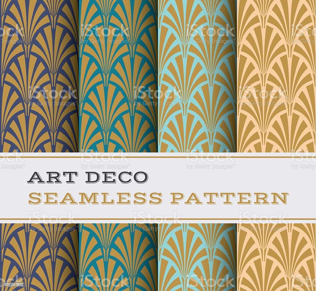 Art Deco seamless pattern 02 vector art illustration