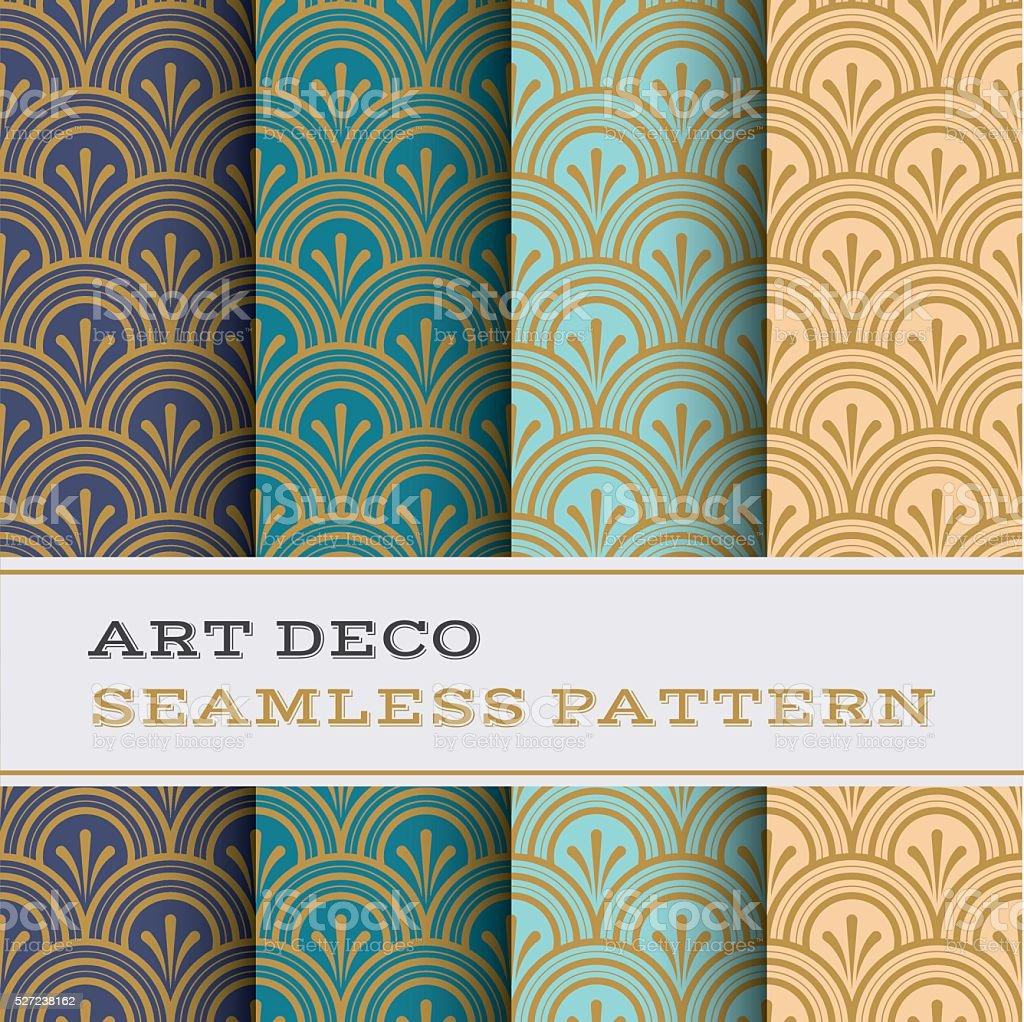 Art Deco seamless pattern 04 vector art illustration
