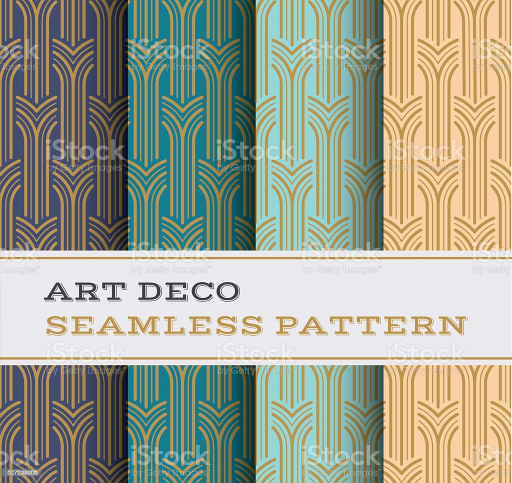Art Deco seamless pattern 05 vector art illustration