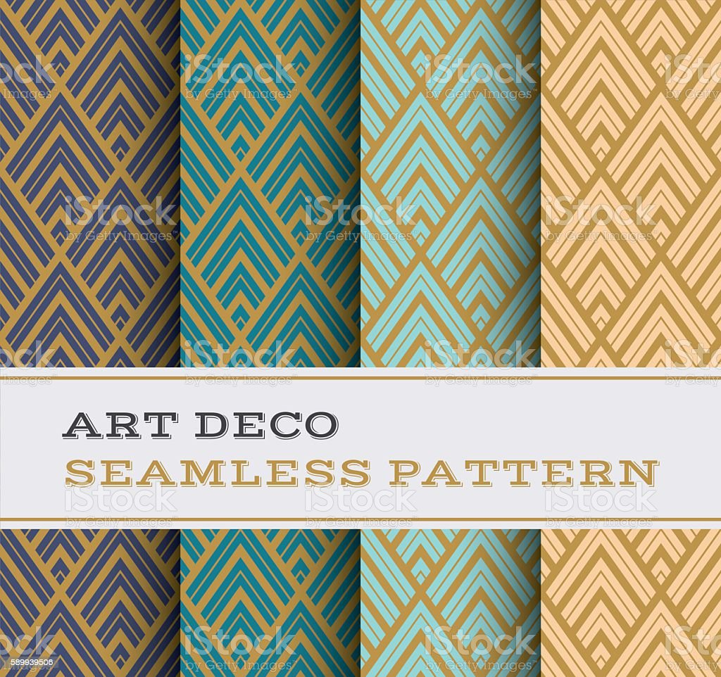 Art Deco seamless pattern 12 vector art illustration