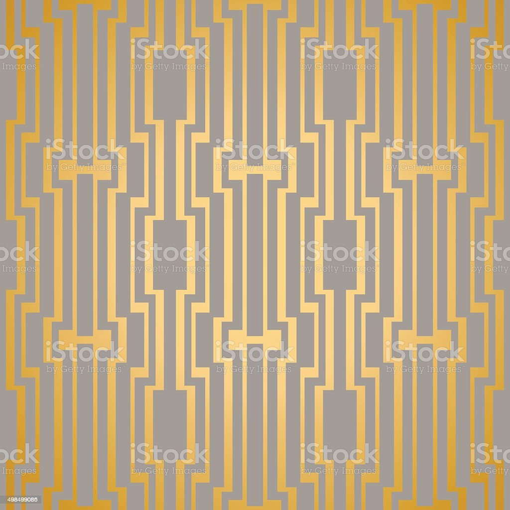 Art Deco seamless vintage vector wallpaper pattern vector art illustration