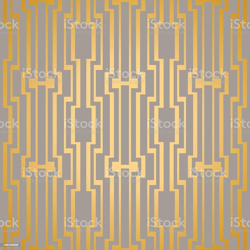 Art Deco seamless vintage vector wallpaper pattern vector art illustration