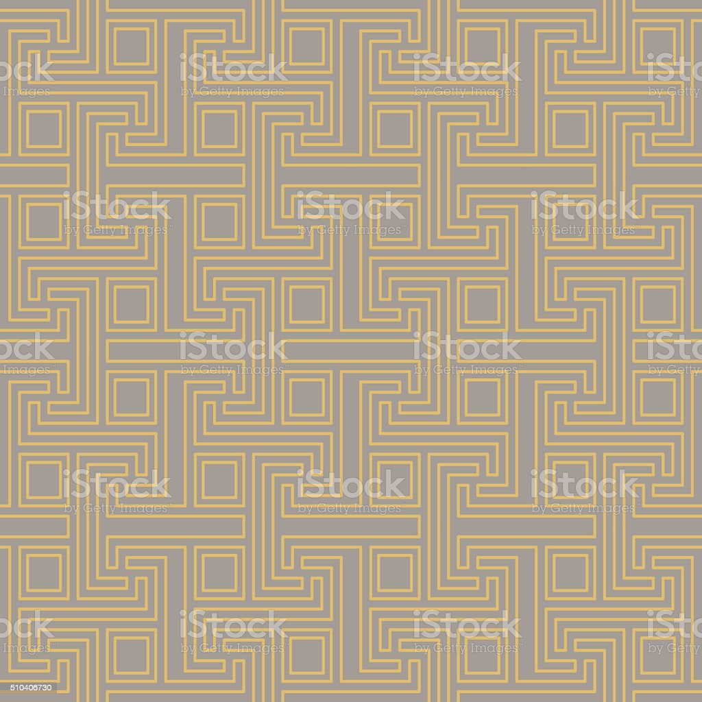 Art Deco seamless vintage wallpaper pattern. Geometric vector decorative pattern. vector art illustration