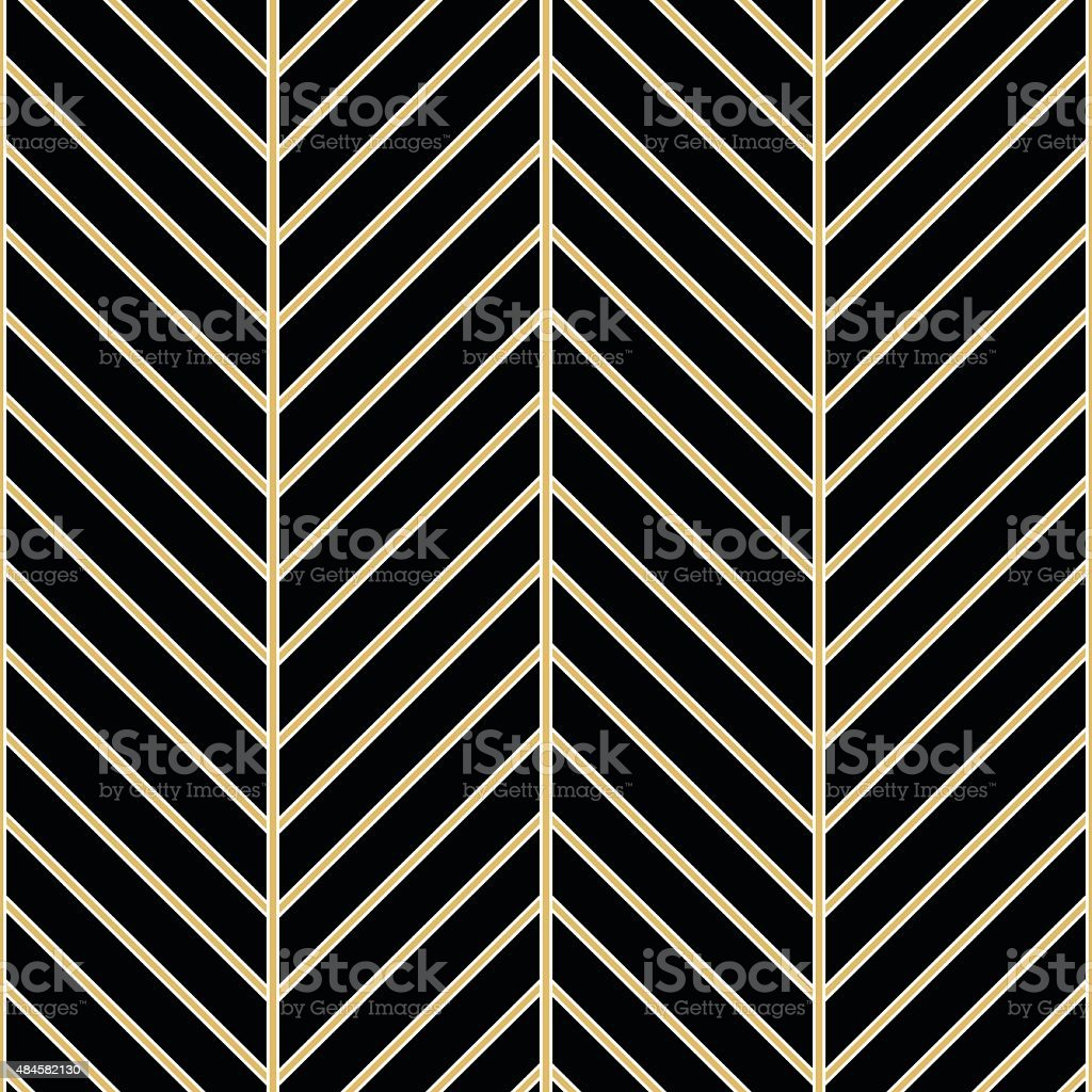 Art Deco seamless vintage wallpaper pattern vector art illustration