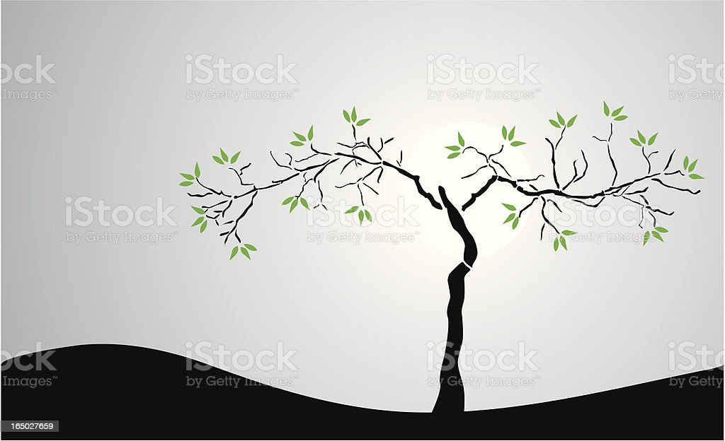 Art Deco Tree Accent ( Vector ) vector art illustration