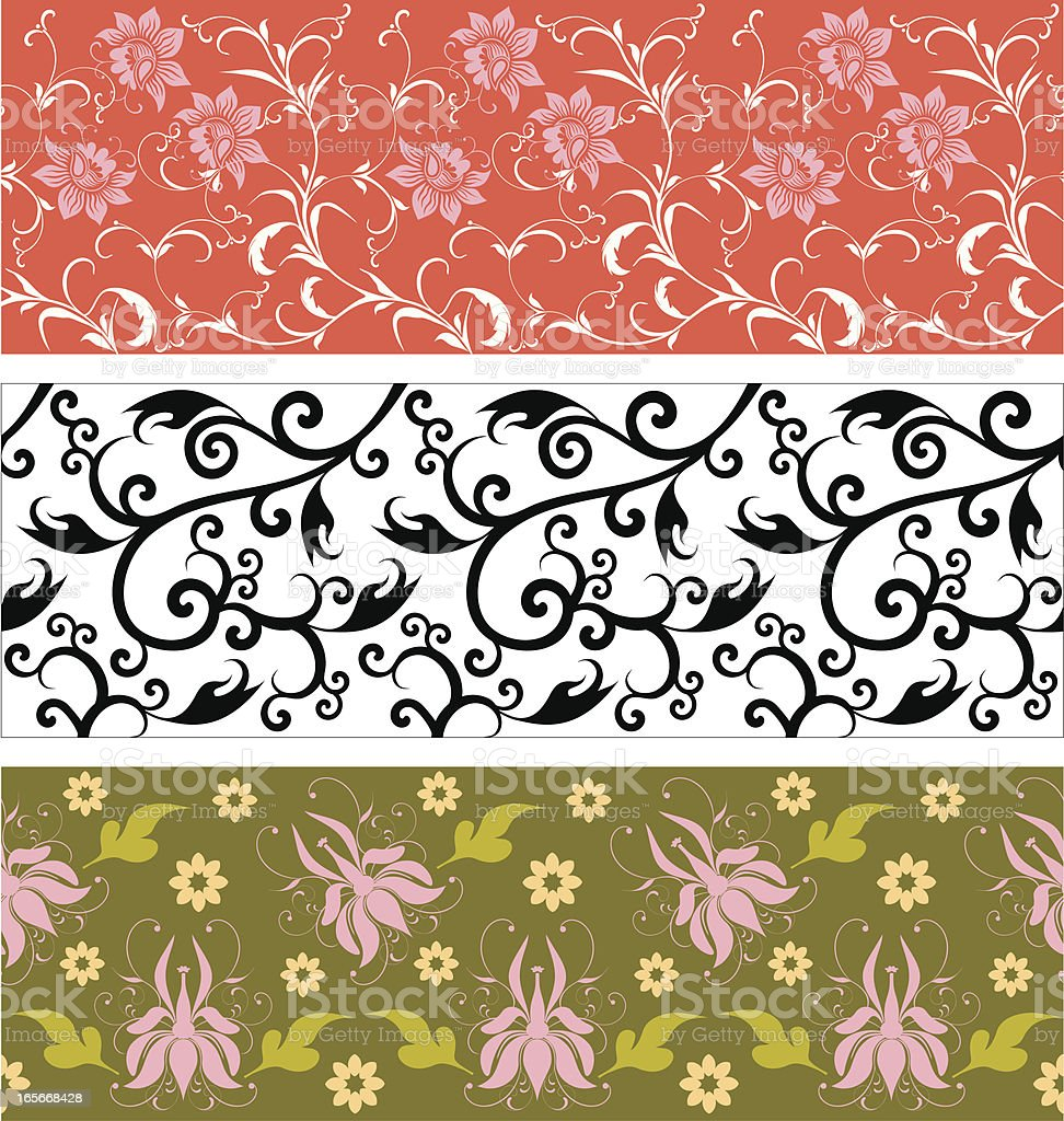 Art Deco wallpaper sheets. vector art illustration