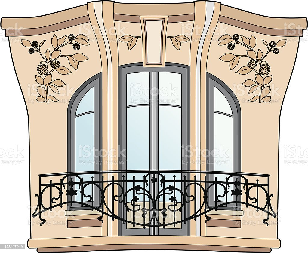Art deco window royalty-free stock vector art
