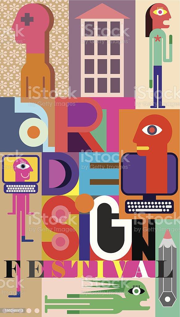 Art Design Festival royalty-free stock vector art