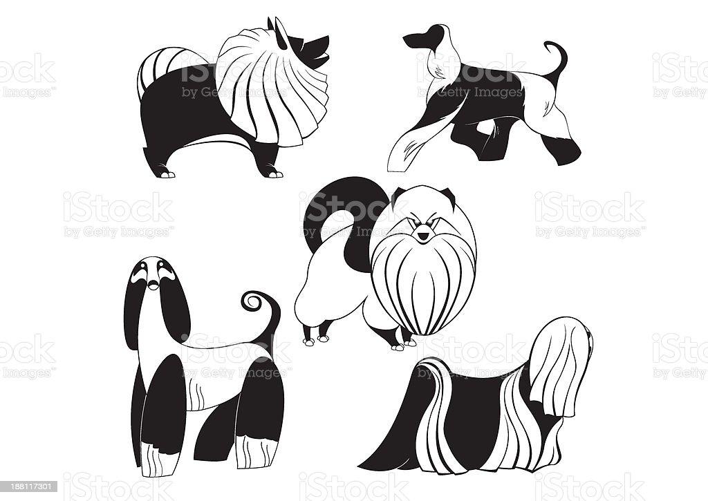 art dog silhouettes royalty-free stock vector art