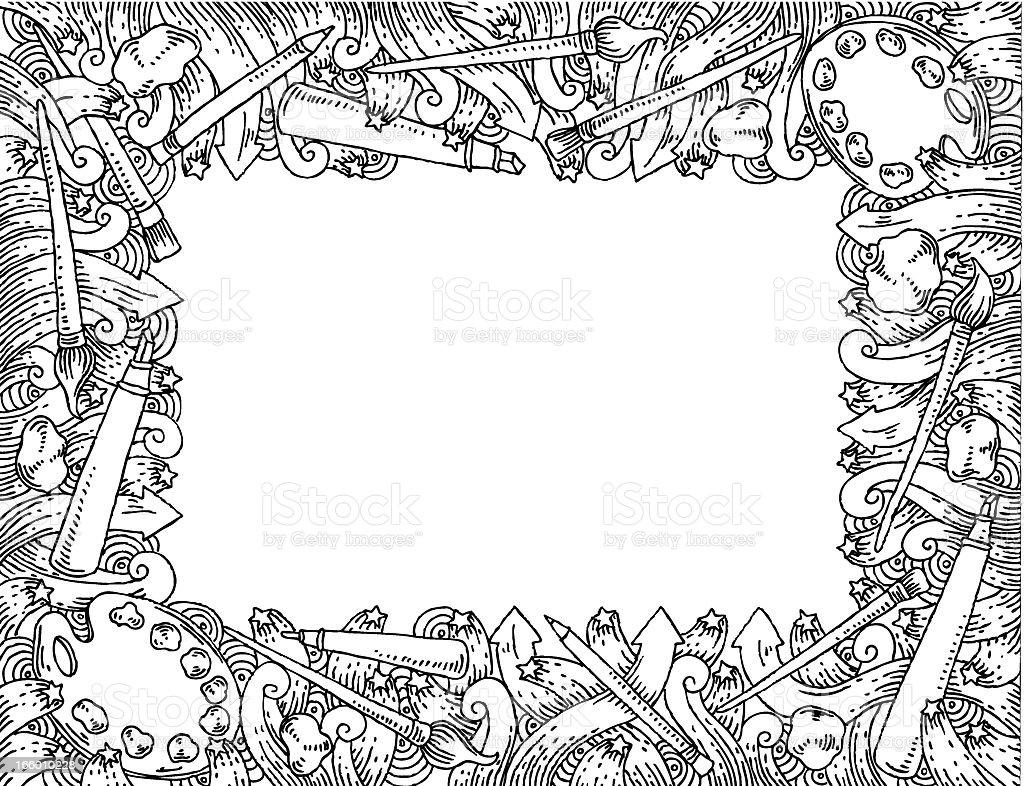 Art doodles frame royalty-free stock vector art