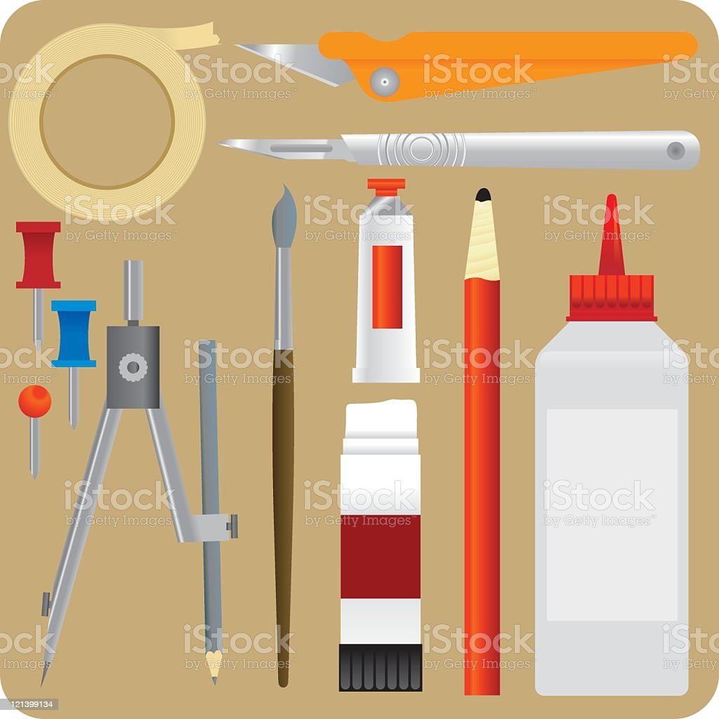 Art Equipment royalty-free stock vector art