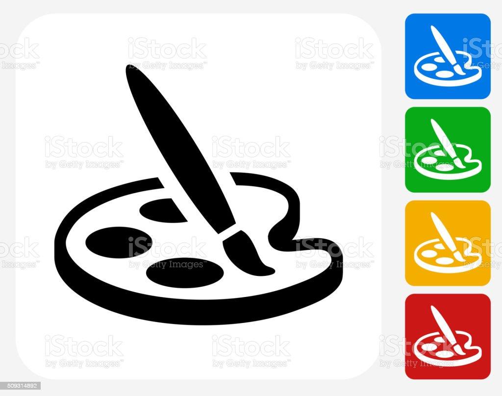 Art Icon Flat Graphic Design vector art illustration