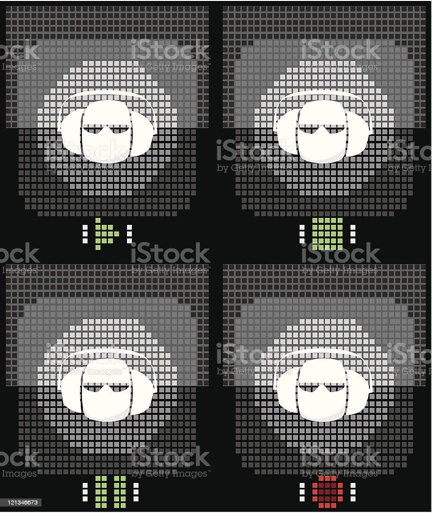 Art icon for music design royalty-free stock vector art