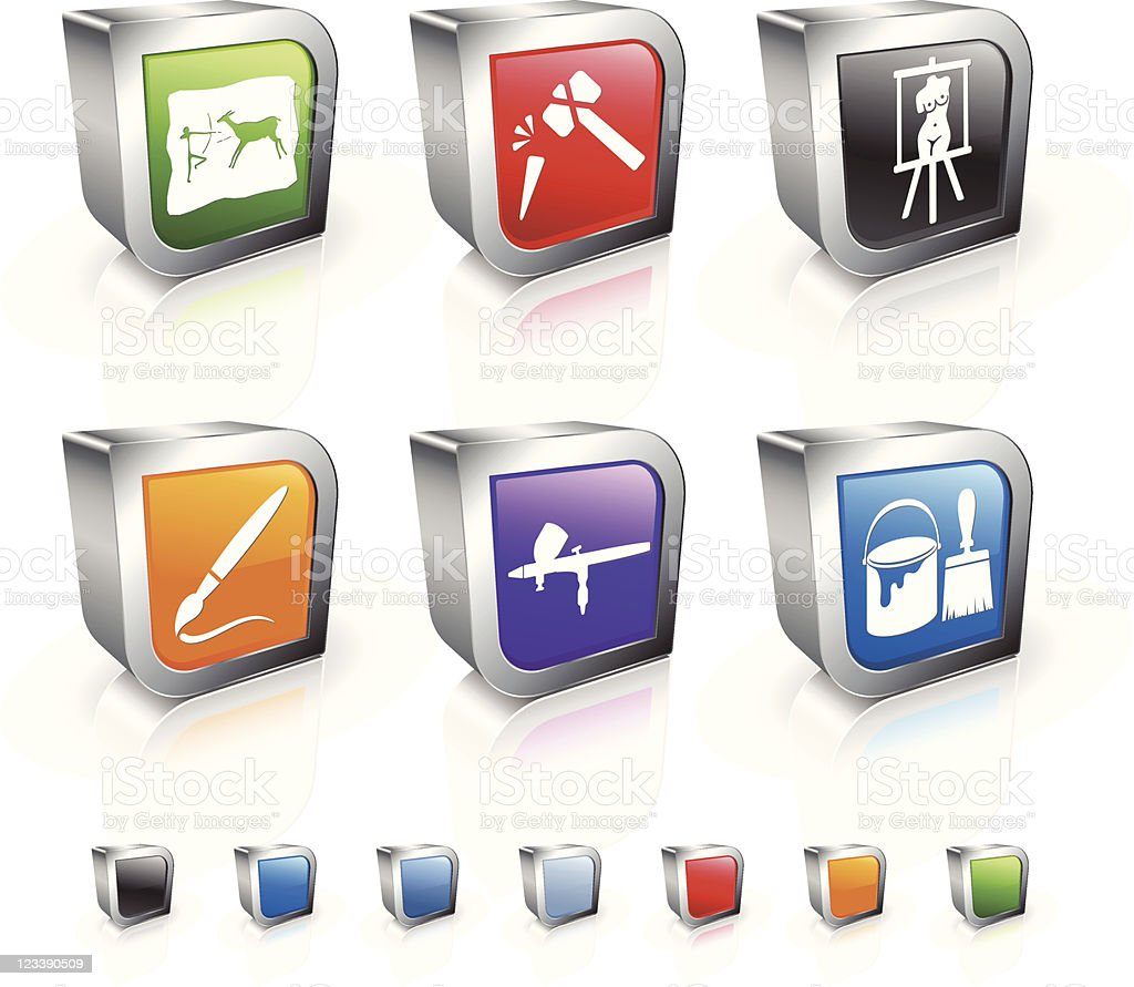 art in time 3D royalty free vector icon set royalty-free stock vector art