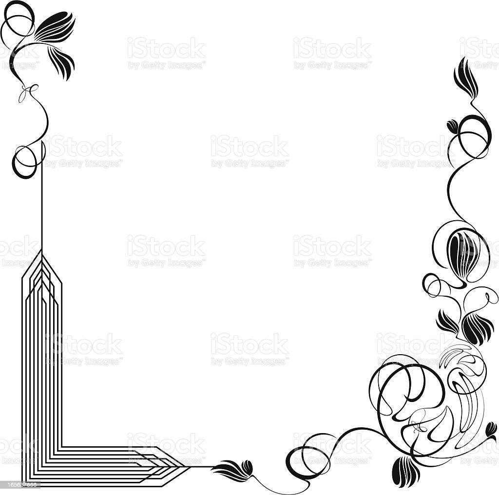 Art Nouveau Border royalty-free stock vector art