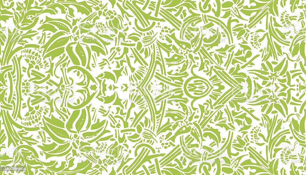 Art Nouveau Plants - Vector royalty-free stock vector art