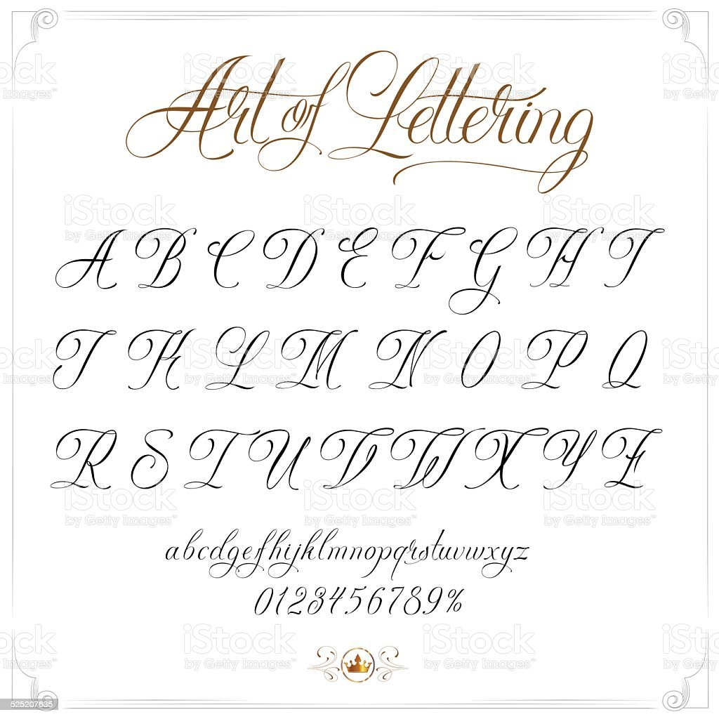 Art of Lettering vector art illustration