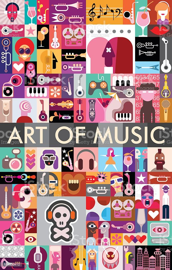 Art of Music vector art illustration