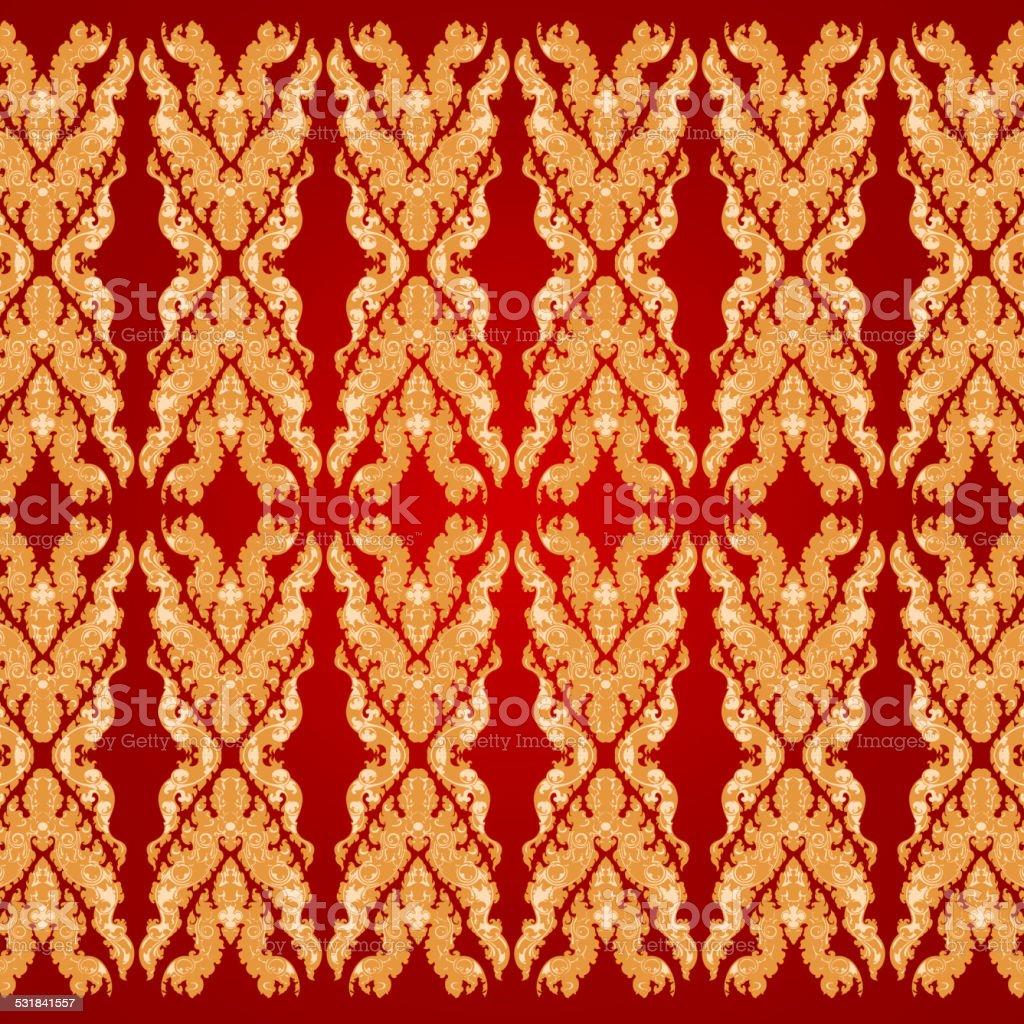 Art pattern Bayon style vector art illustration