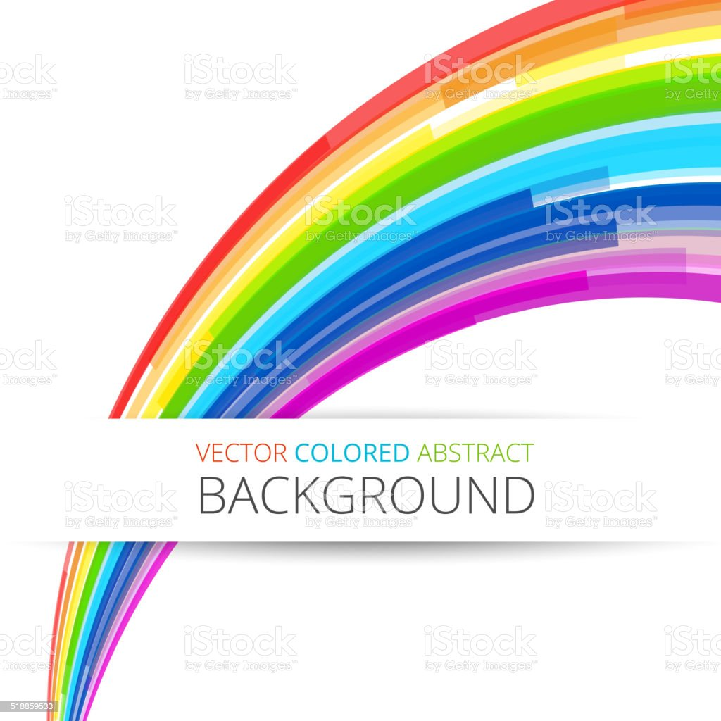 Art rainbow abstract vector background vector art illustration