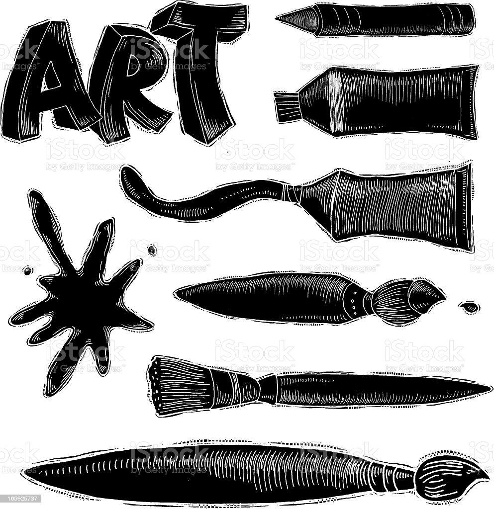 Art Reverse Ink vector art illustration