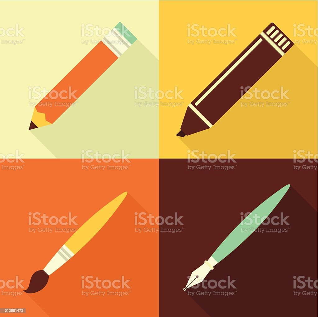 Art set vector art illustration
