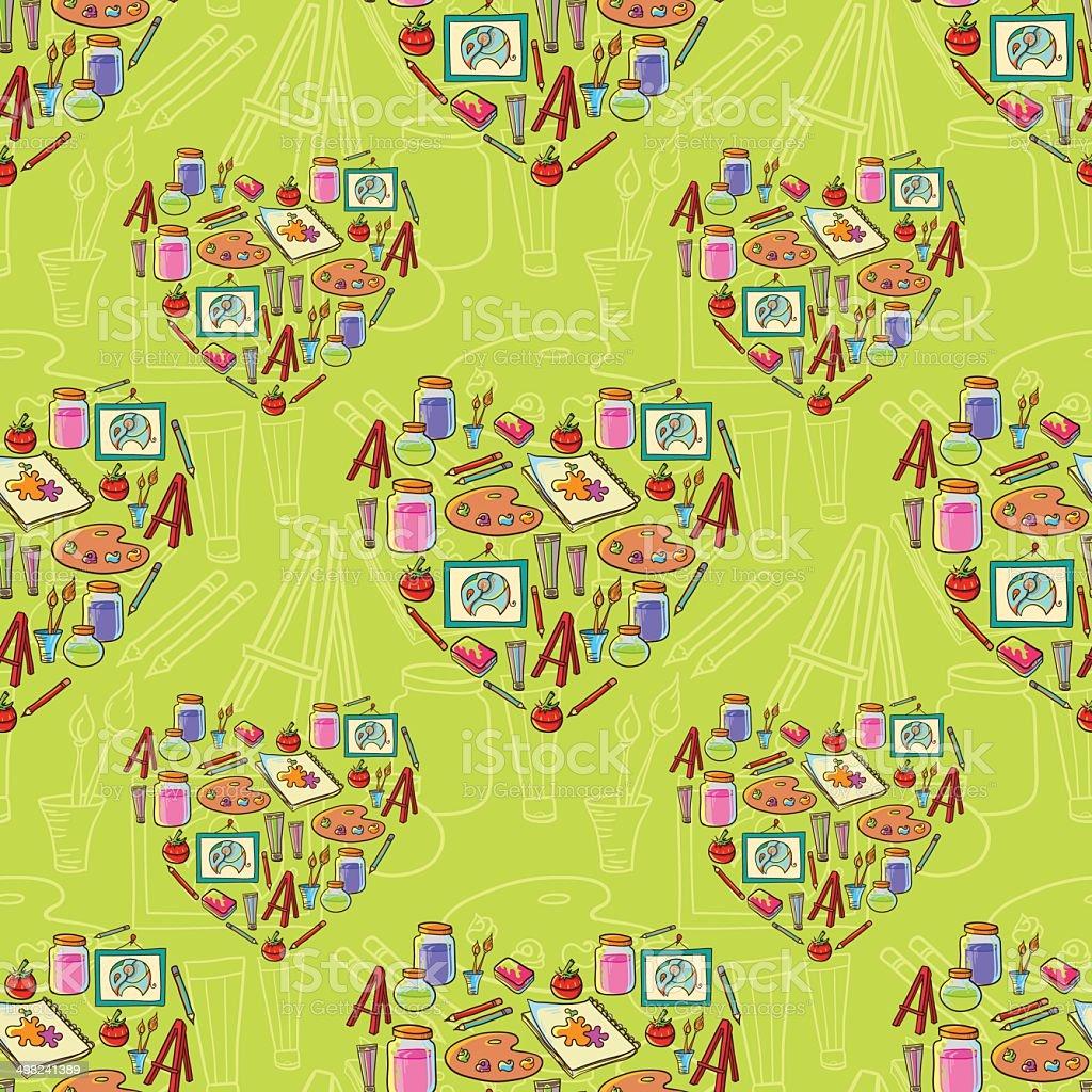Art stationary pattern vector art illustration