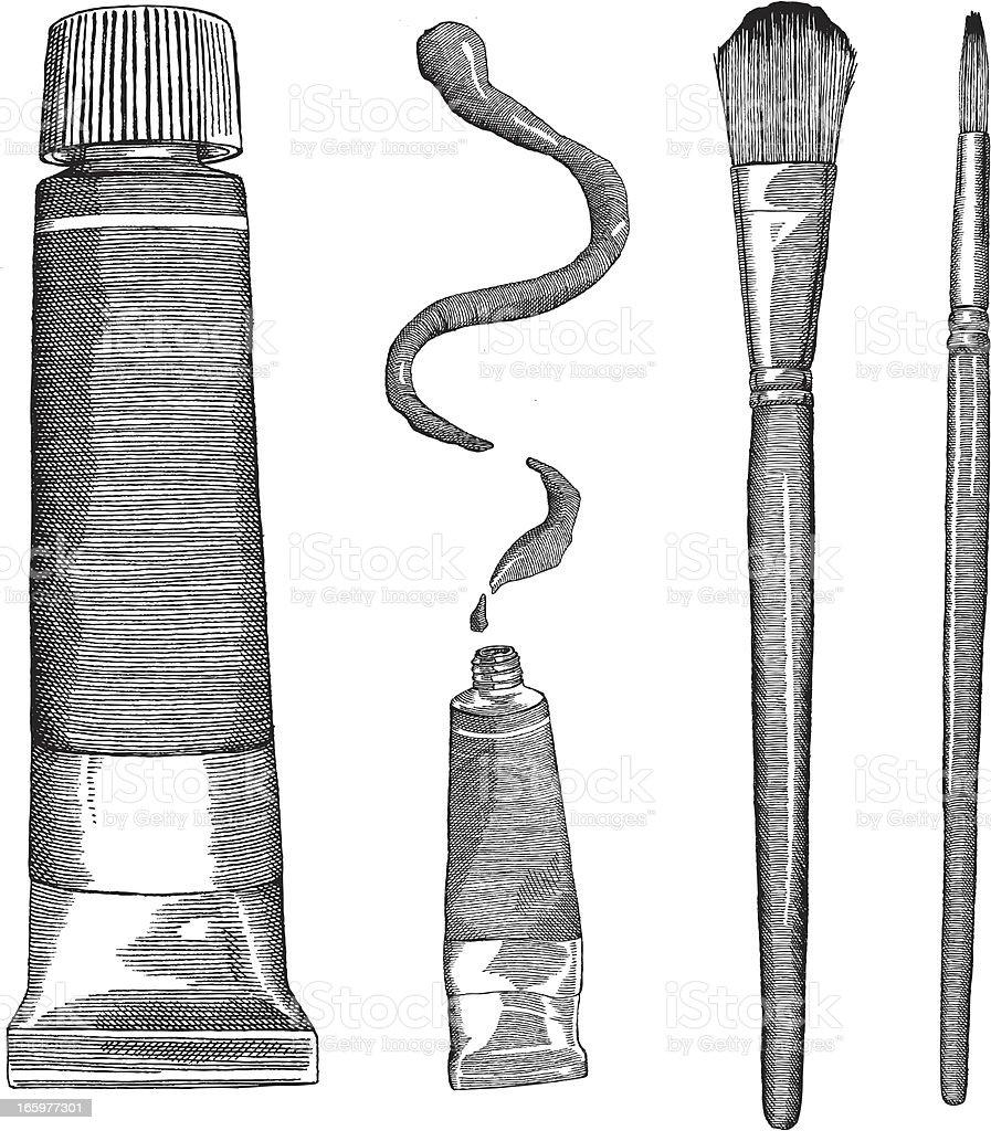 Art Supplies vector art illustration