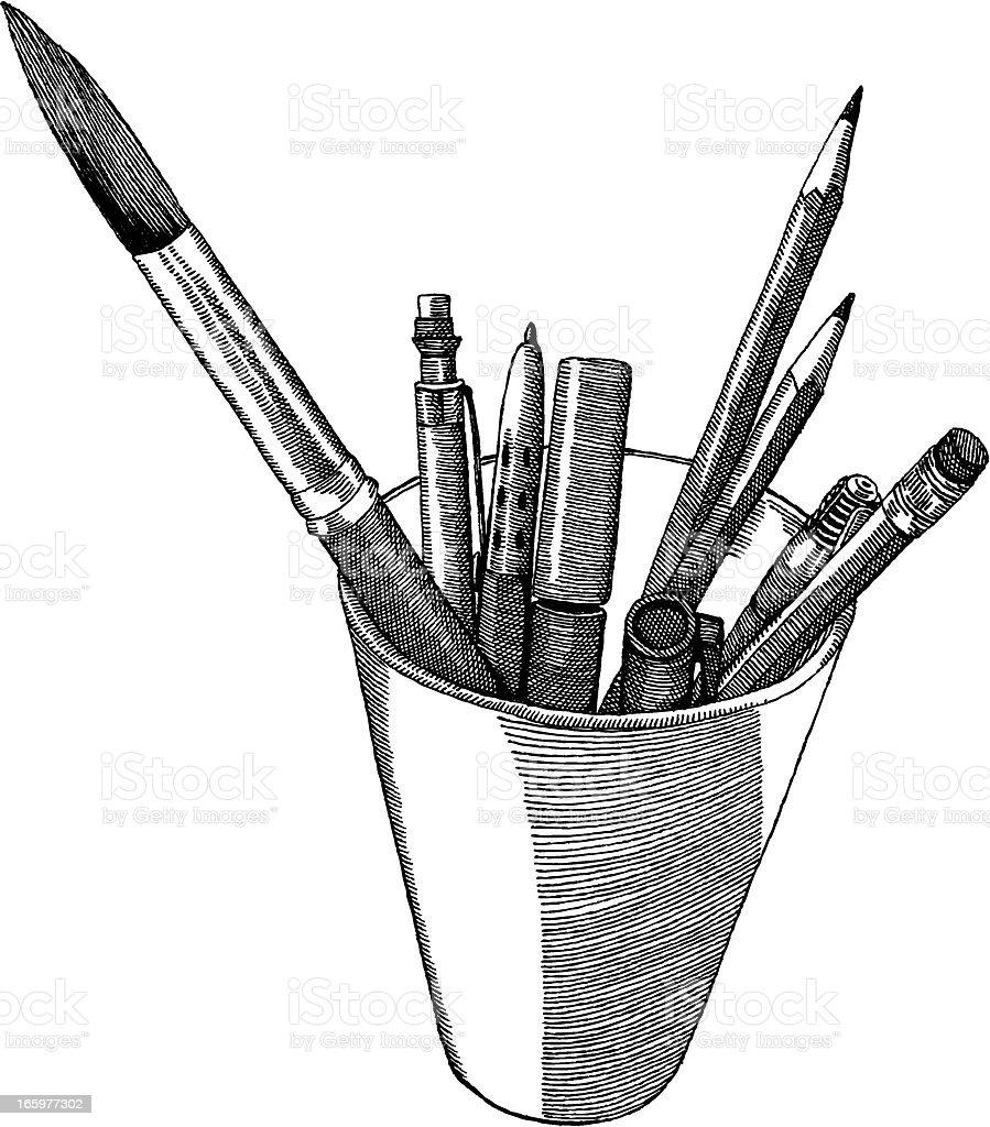 Art Supplies royalty-free stock vector art