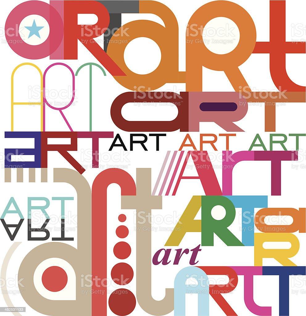 Art - text design royalty-free stock vector art