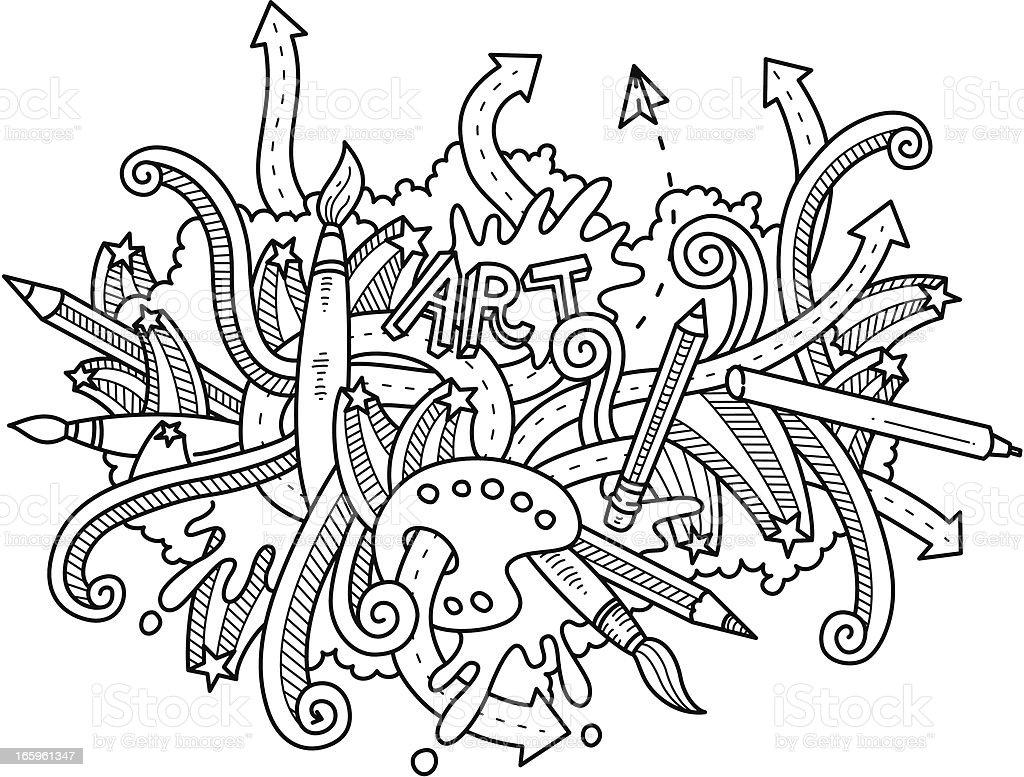 Art Themed Doodle royalty-free stock vector art