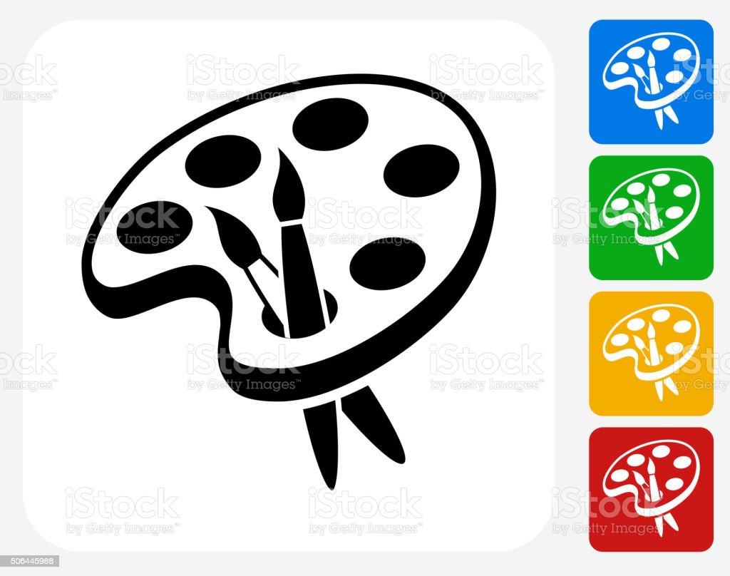 Art Tools Icon Flat Graphic Design vector art illustration