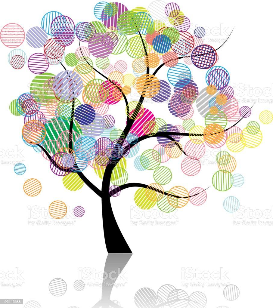 Art tree fantasy royalty-free stock vector art