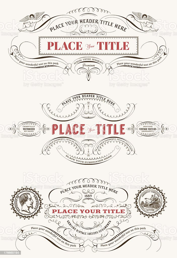 Art with vintage vector labels for custom editing  royalty-free stock vector art