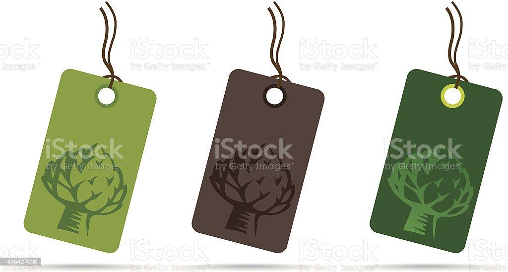 Artichoke Labels vector art illustration