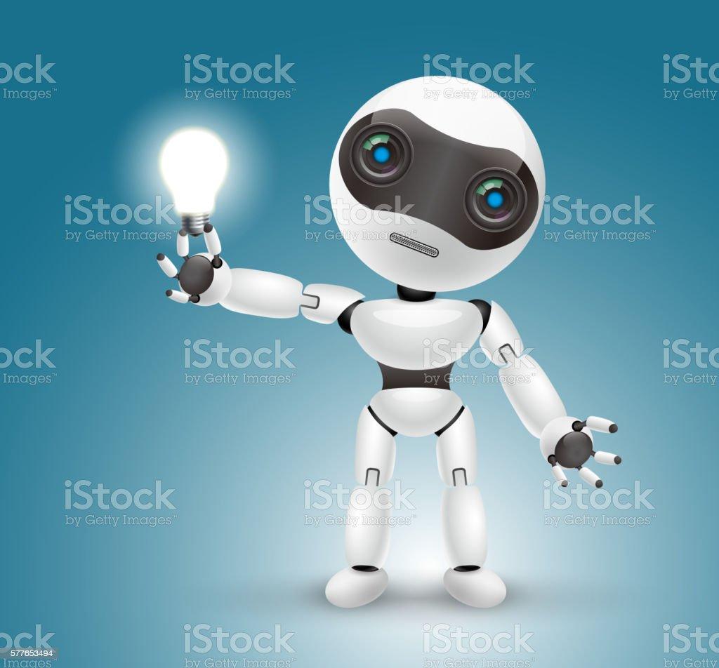 Artificial intelligence robot vector art illustration