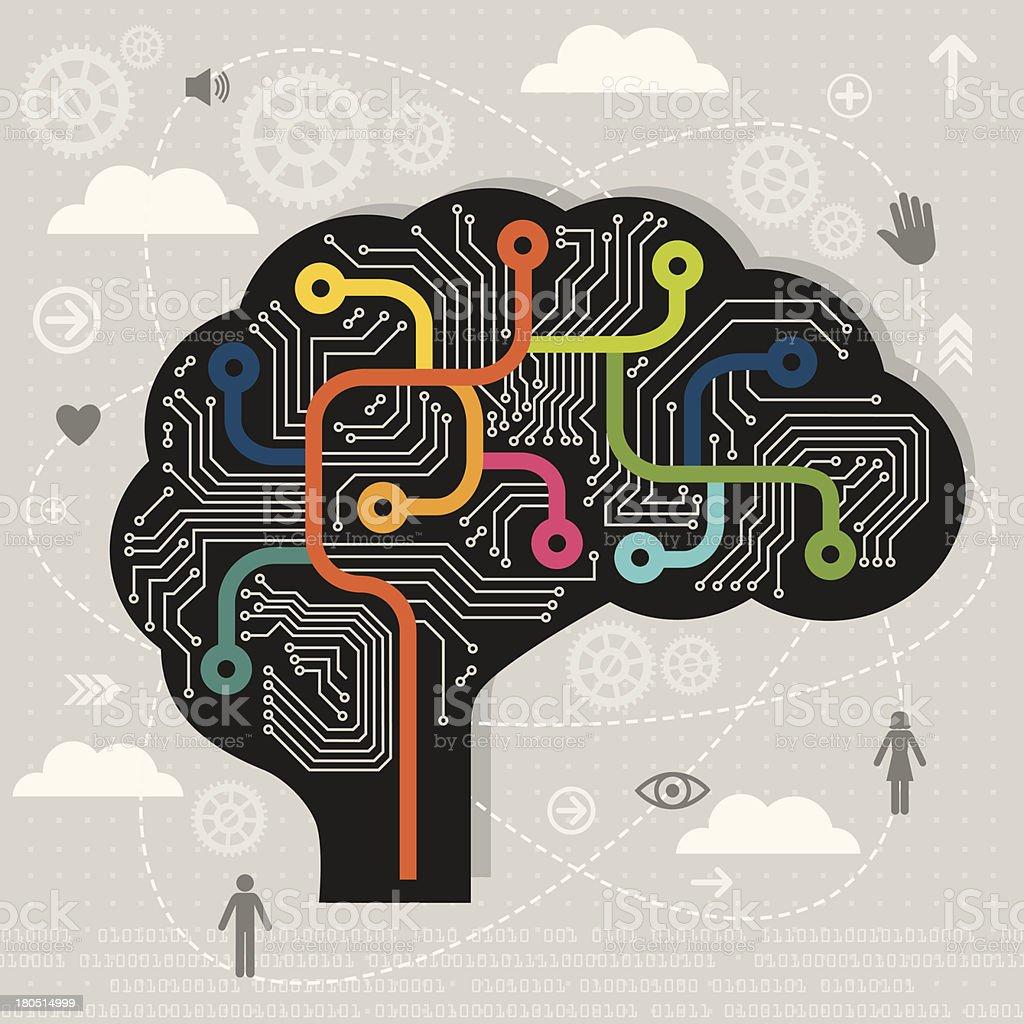 Artificial Intelligence vector art illustration