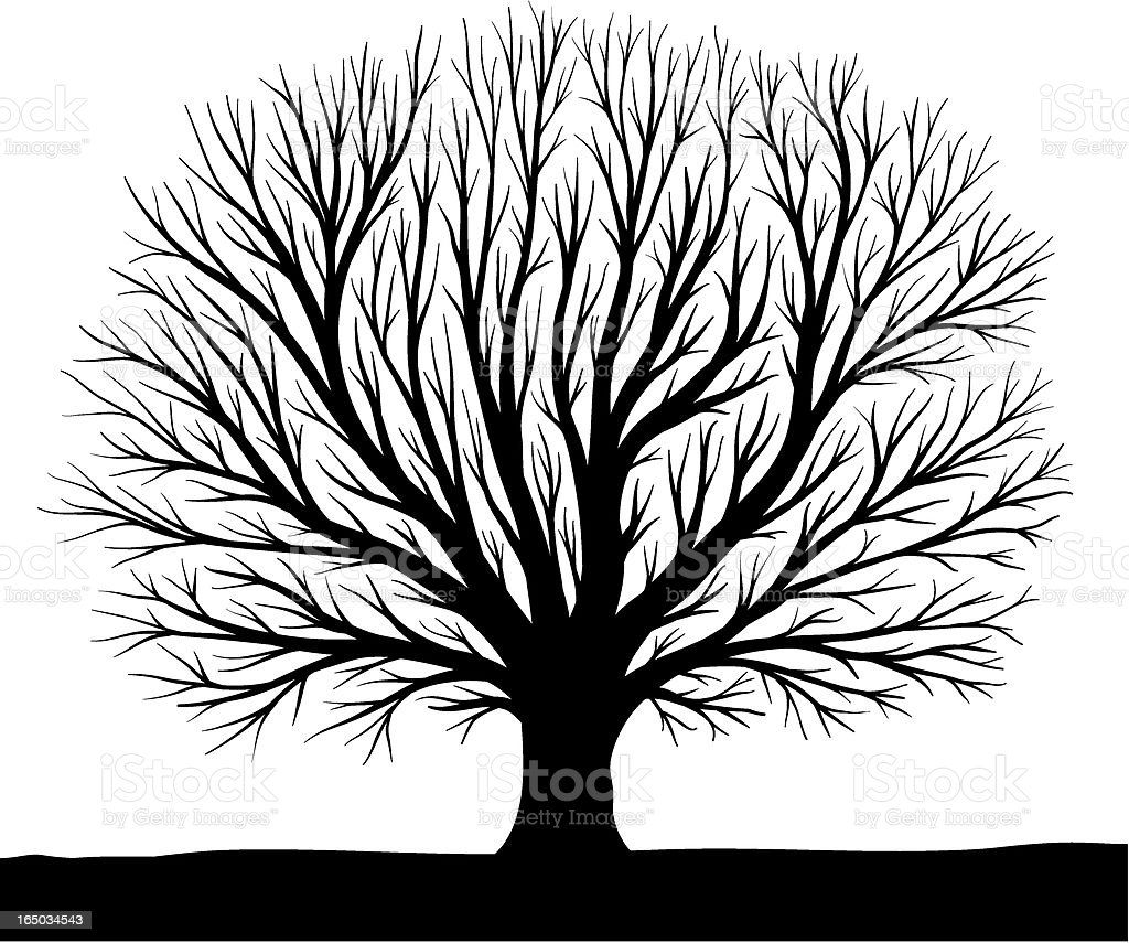 artificial tree silhouette vector art illustration