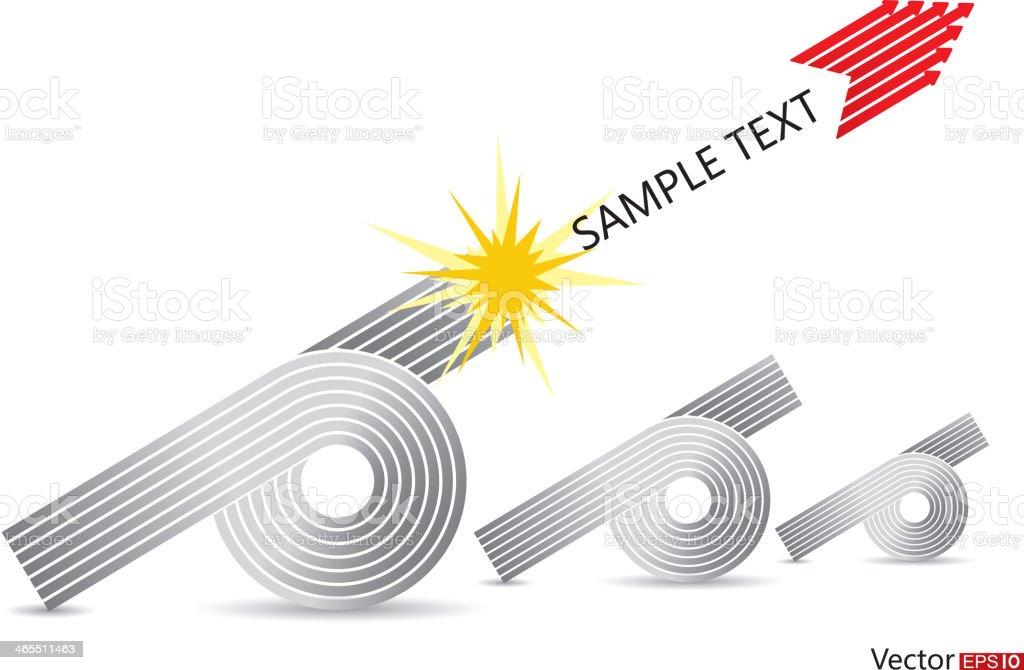 Artillery arrows royalty-free stock vector art
