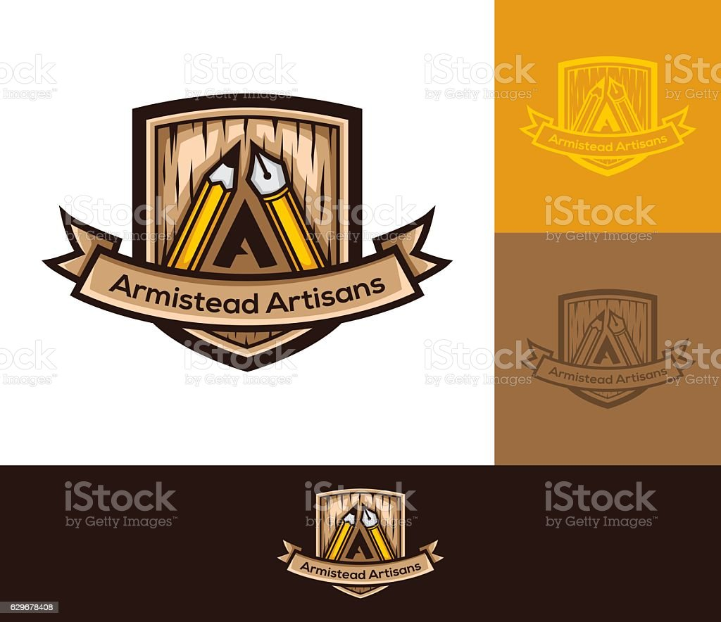 Artisans vector logo vector art illustration
