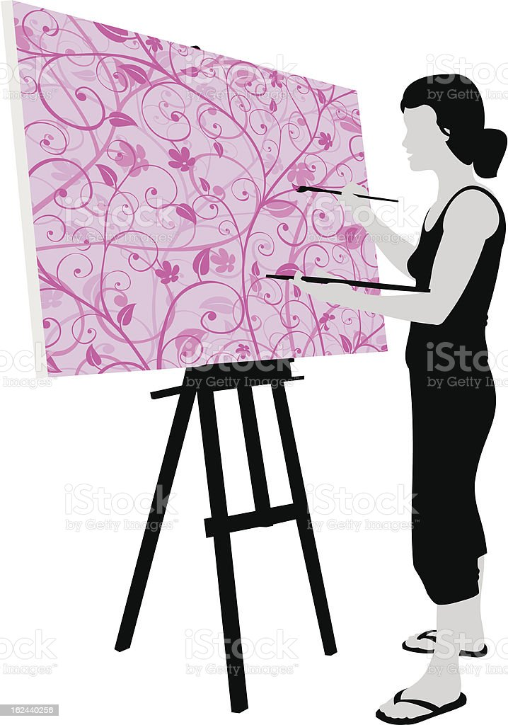 Artist at Work royalty-free stock vector art