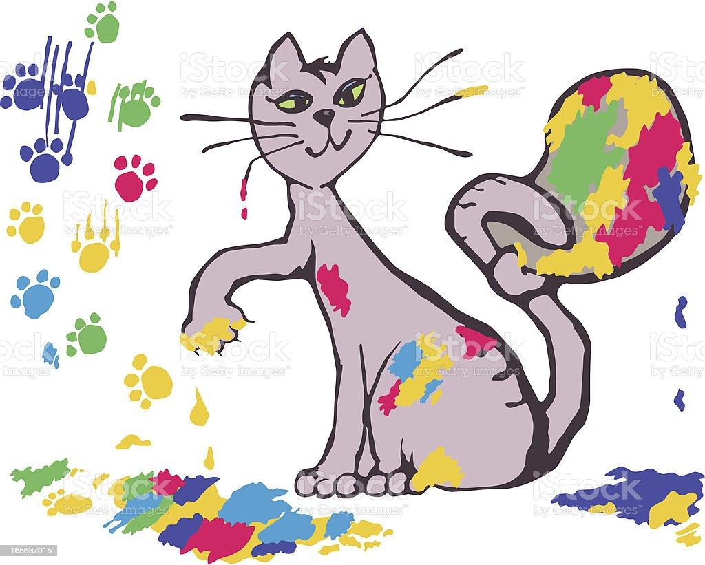 Künstler cat Lizenzfreies vektor illustration