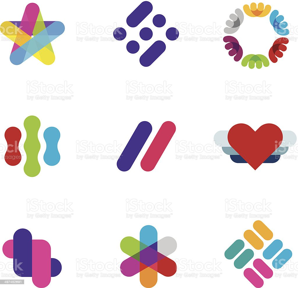 Artist creative process logo illustration inspiration company symbol icons logo vector art illustration