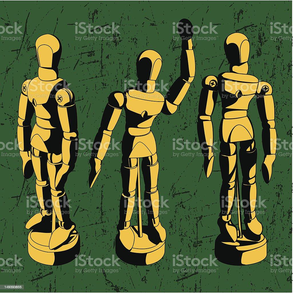 Artist Mannequin vector art illustration
