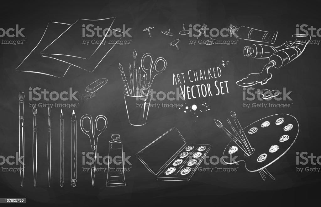 Artist vector set. vector art illustration